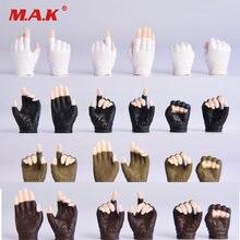 Масштаб 1:6 4 цвета перчатки ручной тип 20 ручная модель для