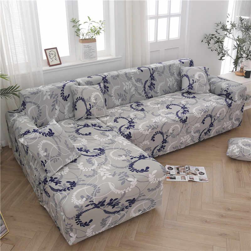 L şekilli köşe kanepe Slipcovers baskılı elastik streç kesit kanepe kanepe kılıfı funda kanepe şezlong salon oturma odası