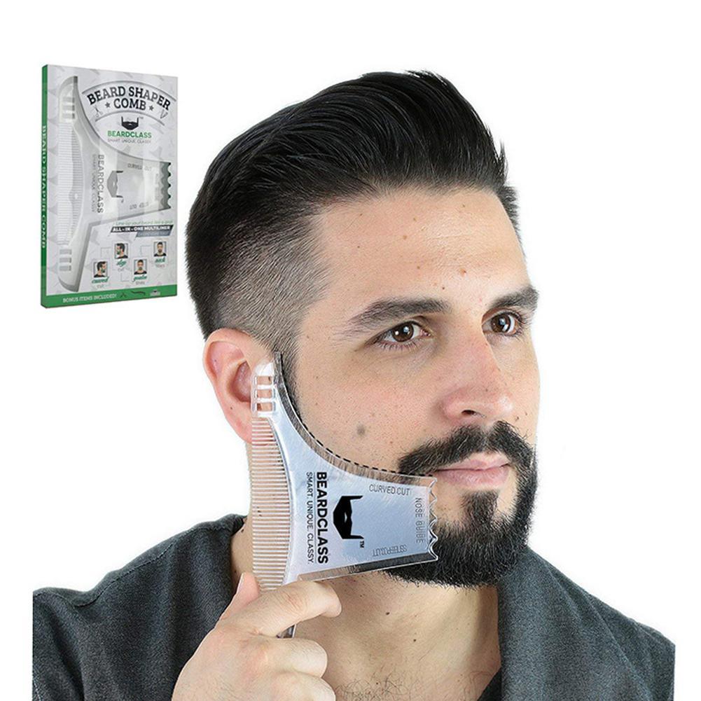 BellyLady Men Beard Shaping Styling Template Beard Hair Combs Men Shaving Tools Hair Beard Trim Template Barber Comb Style Brush(China)