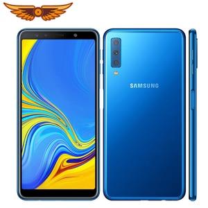 Original Samsung Galaxy A7 (2018) A750F 6.0 Inches Octa-core 4GB RAM 64GB ROM 24MP Triple Camera LTE Unlocked Android Cellphone