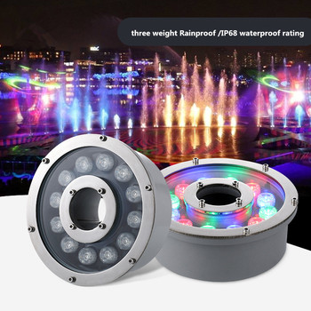 Led fountain light 6w 12w 18w Led Pool Light Free AC/DC 12V 24V Underwater Lights Fountains Waterproof Ip68 RGB Garden Pond Lamp 12v led underwater light waterproof rgb underwater lamp swiming pool garden fountains pond water fish tank aquarium spot lights