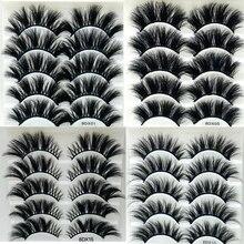 새로운 5 쌍 25mm 속눈썹 속눈썹 3D 밍크 속눈썹 메이크업 수제 풀 스트립 밍크 속눈썹 부드러운 털이 속눈썹 풀 볼륨 속눈썹