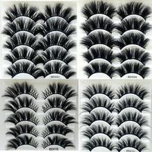 NEUE 5 paar 25mm Wimpern Wimpern 3D Nerz Wimpern Make Up Handgemachte Volle Streifen Nerz Wimpern Weichen, Flauschigen Wimpern Voller volume lash