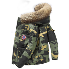 90 Down Jackets Men Winter Jacket Men Fashion Thick Warm Parkas Fur White Duck Down Coats Casual Man Waterproof Down Jackets 877 cheap JUNGLE ZONE CN(Origin) Regular zipper Full Button Pockets Zippers Appliques Thick (Winter) Denim Polyester Acetate Hat Detachable