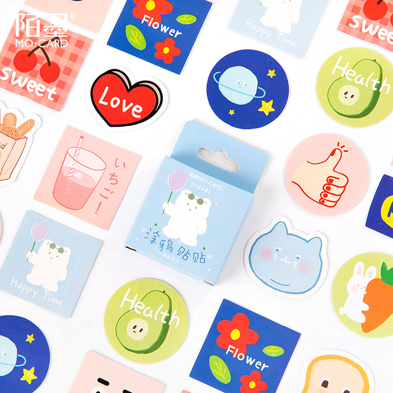 45 pcs/lot cute Graffiti Bullet Journal Decorative Stickers set Scrapbooking Stick Label Diary Stationery Album Kawaii Stickers image