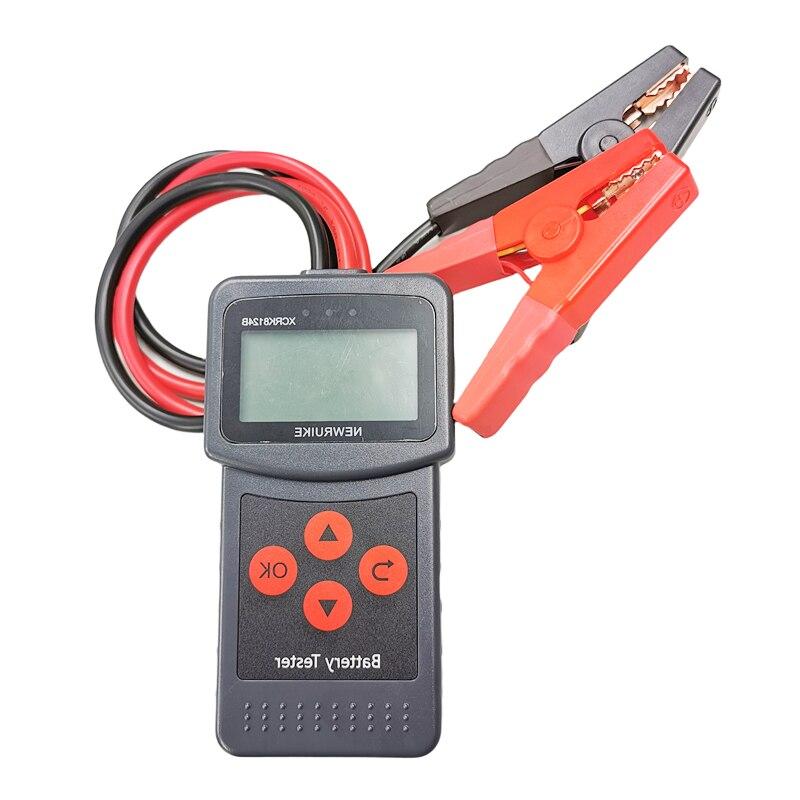 XCRK8124B Car Battery Tester 12v 24v Digital AGM EFB Gel Automotive Load Battery System Analyzer For Car Moto Car Diagnostic Too