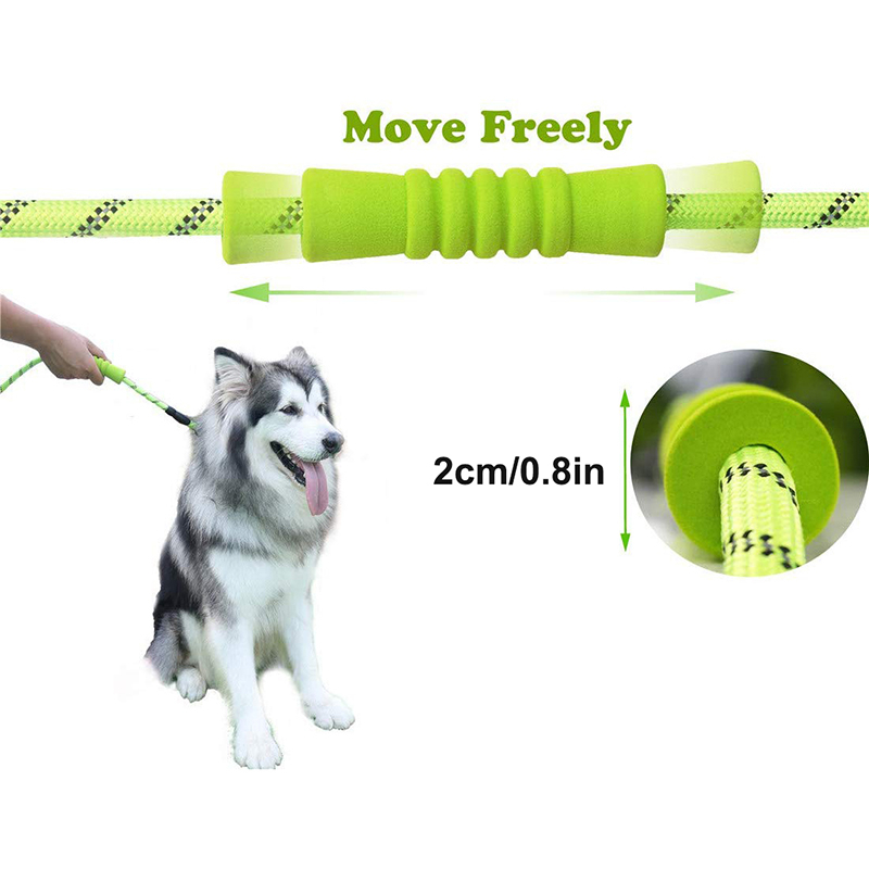 Benepaw Strong Medium Large Dog Leash Reflective Comfortable Padded Double Handles Non-slip Training Pet Leash Anti Tangle  My Pet World Store