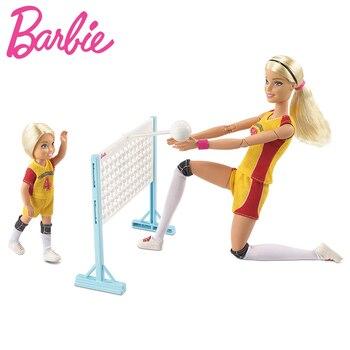 Original Barbie Fashion Doll Little Volleyball Teacher for Barbie Coach Girl Gift The Girl A Birthday Present Girl  Boneca FRL33 набор для творчества intellectico юный парфюмер мини апельсин 717