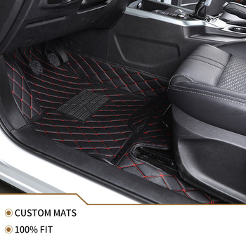 Flash mat leather car floor mat For hyundai all models santa fe getz tucson ix25 ix35 creta elantra kona i30 car foot mats image