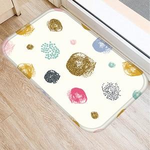 Image 3 - 40 * 60cm Stripe Paint Floor Mat Non slip Suede Carpet Door Mat Kitchen Living Room Floor Mat Home Bedroom Decorative Floor Mat.
