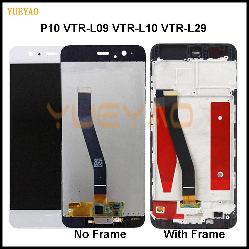 5,1 ''Оригинальный ЖК-дисплей для HUAWEI P10 дисплей сенсорного экрана для HUAWEI P10 ЖК-дисплей VTR-L09 VTR-L10 VTR-L29 экран дисплея