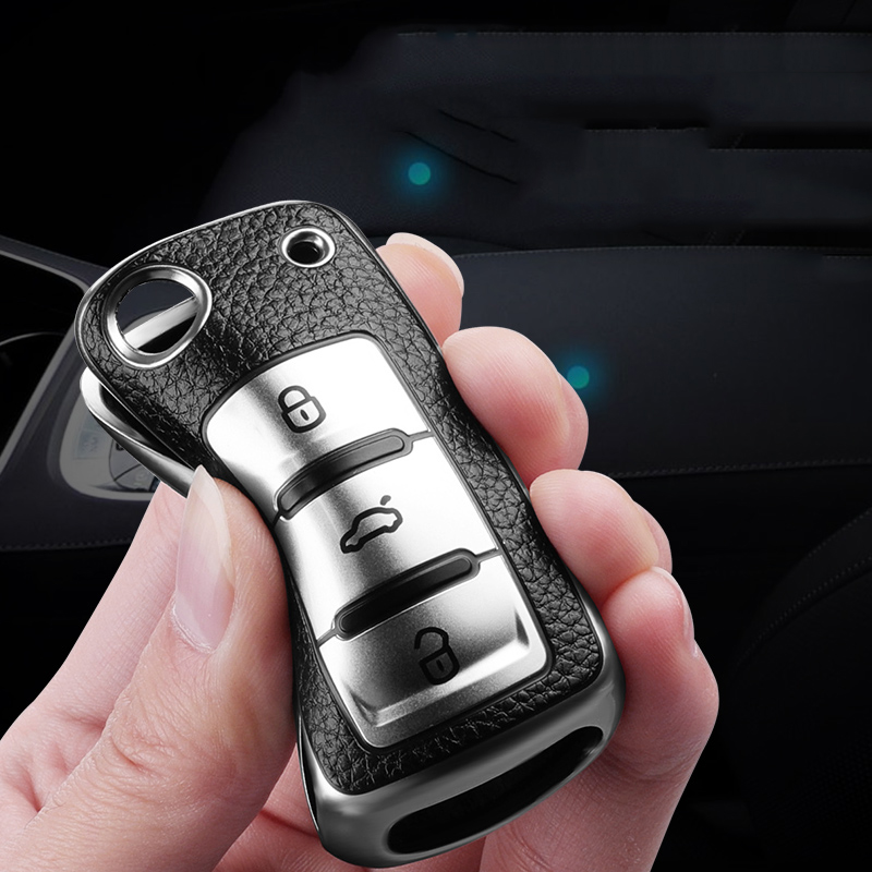 Новый кожаный чехол + ТПУ ключа дистанционного управления автомобилем