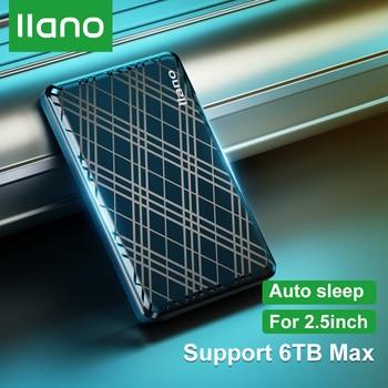 LLANO External Hard Drive Disk Case SSD HDD Case 2.5 SATA to USB 3.0 Adapter HDD Enclosure Box HD Caddy for PS4/Dell/Mac Laptop 9 5mm 2nd sata 2 5 hard disk drive hdd ssd enclosure caddy adapter for acer aspire e5 521 23kh f15 f5 572g f5 573g da8a6sh