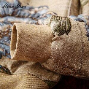 Image 5 - MoaaYina yüksek kalite moda ceket ceket sonbahar kadın çiçek boncuk zarif kısa ceket ceket