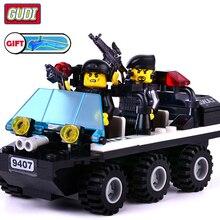 GuDi Compatible legoed SWAT Police Station Armored Vehicles Blocks building boys children Toys figures truck car Legoingly цена