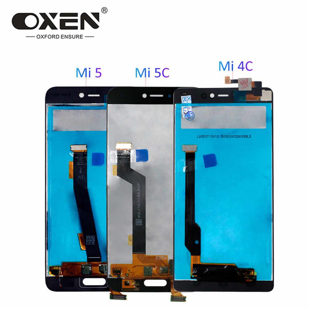 Öküz LCD ekran için xiaomi mi mi 4C için LCD dokunmatik ekran değiştirme mi 5 5C mi 4C mi 5 mi 5 lcd ekran s sayısallaştırıcı meclisi için test