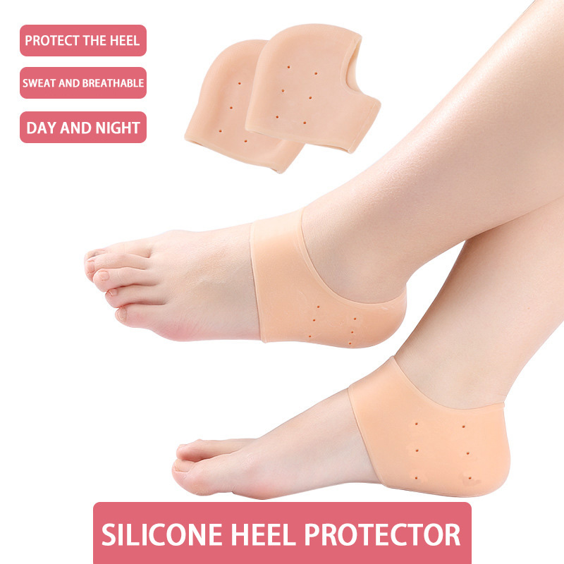 Heel Protector Silicone Pads Heel Spur For Shoe Inserts Pads Heel Cushions Gel Heel Pad Silicone Heel Pain Reduce