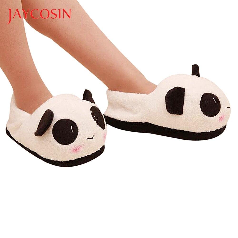Jaycosin Shoes woman shoes woman winter shoes Panda Warm Plush Antiskid Indoor home slippers women slides calzado mujer 24.5cm 1