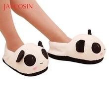 Jaycosin Shoes woman shoes woman winter shoes Panda Warm Plush Antiskid Indoor home slippers women slides calzado mujer 24.5cm