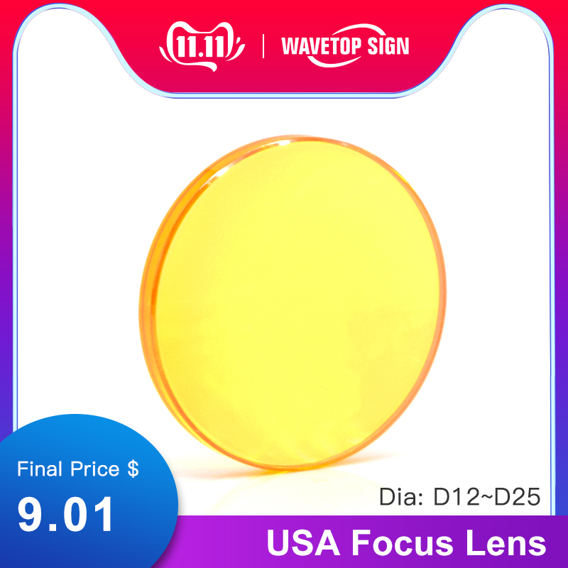 Focus Lens USA CVD ZnSe Dia 12 15 18 19.05 20 25 FL 38.1 50.8 63.5 76.2 101.6 127mm for CO2 Laser Engraving Cutting Machine-in Lenses from Tools