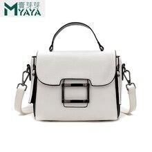 MAIYAYA 2019 nuevos bolsos cruzados blancos para mujeres de alta calidad PU mujeres bolsos de mensajero bolsos de solapa de moda para niñas saco A principal