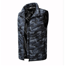 Men Autumn Winter Flexible Electric Thermal Cloth Waistcoat Fish Hiking Euro Size s-4XL Outdoor USB Infrared Heating Vest Jacket cheap Mazerout Fits true to size take your normal size None Polyester Breathable