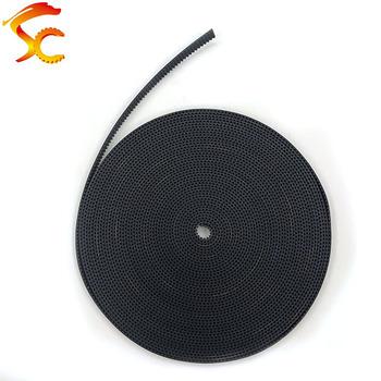 Paski rozrządu GT2 3mm 5mm 6mm 7mm 9mm 10mm guma z włóknem szklanym Metric Trapezoid otwarty pasek drukarki 3D tanie i dobre opinie NONE CN (pochodzenie) 2GT runbber open belt Standardowy PASEK ROZRZĄDU RUBBER