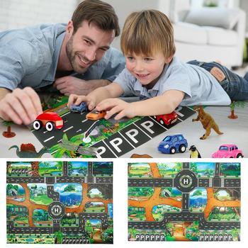 Dinosaur Traffic Road Kids Baby Crawling Play Mat Chidren Game Floor Carpet Pad World Transport Map Pattern Design 2020 Hot sale