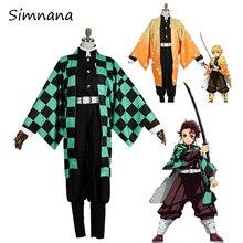 Anime Demon Slayer Cosplay Costume Kimetsu no Yaiba CostumeTanjirou Kamado Nezuko Men Kimono Halloween