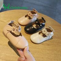 Claladoudou11.5 13.5CM brand soft baby shoes leather flowers pure toddler girls shoes first step newborn girl baby shoe for 0 2Y