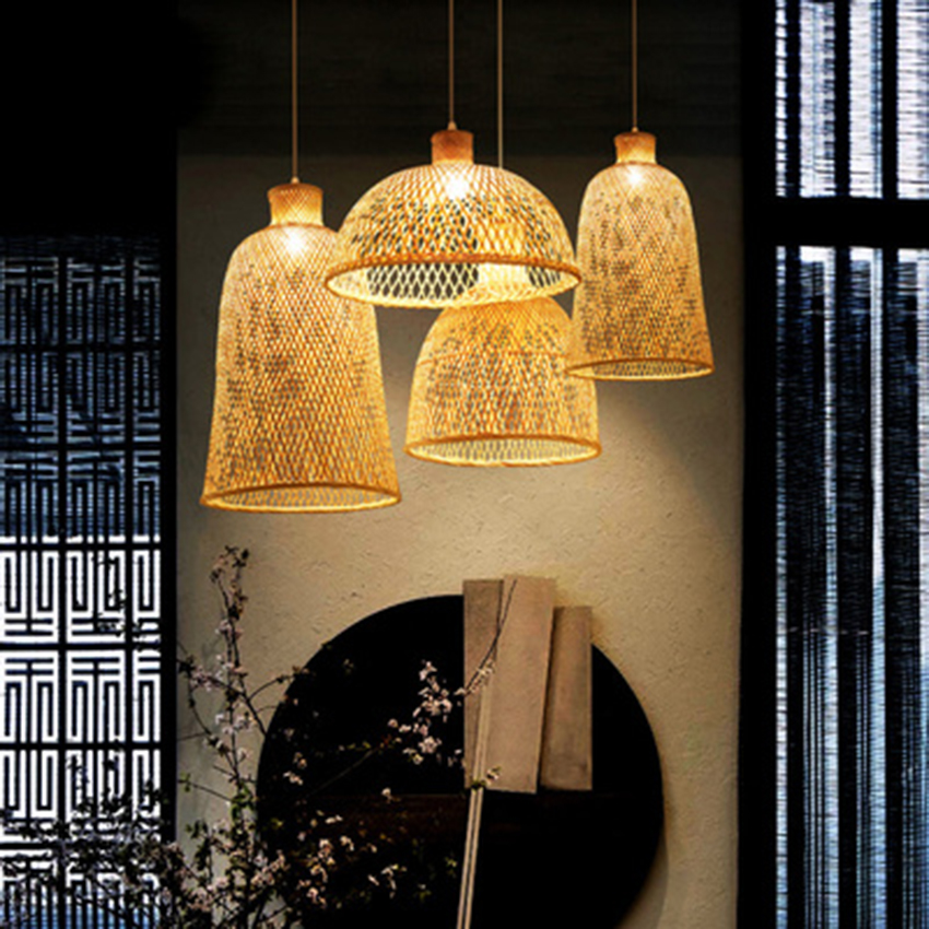 Bamboo Weaving Lantern Pendant Lights