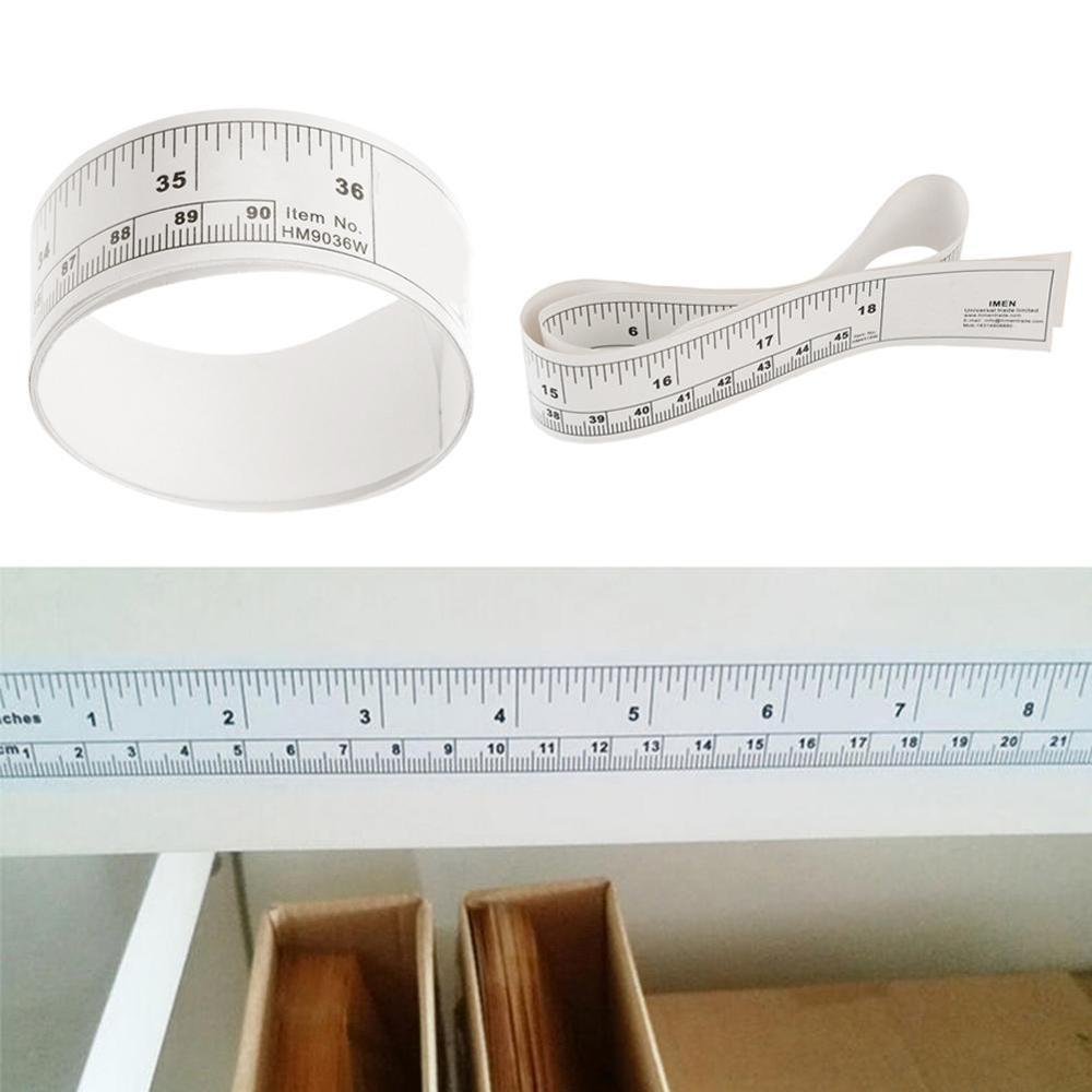 45cm/90cm Desktop Ruler Self Adhesive Metric Measure Tape Vinyl Ruler For Sewing Machine Sticker Scale