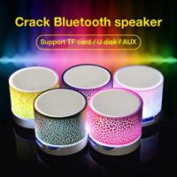 Minialtavoz Bluetooth inalámbrico, altavoz con luz colorida, sonido de grietas, Subwoofer portátil, soporte para tarjeta TF, reproductor MP3