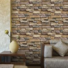 new 3D Wall Papers Brick Stone Rustic Effect Self Adhesive TV Background Sticker Home Decor Student bedroom dress wallpaper