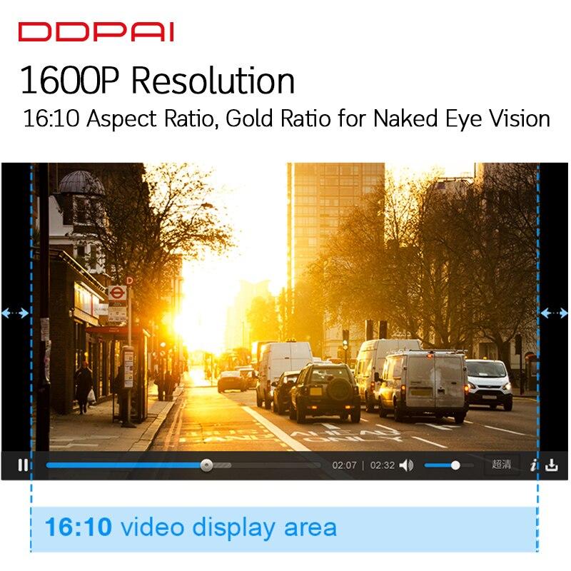 Global Version DDPai Mini3 Dash Cam DVR English Language 32GB 1600P HD Recording Camera 24H Parking Monitor Build in eMMC - 5