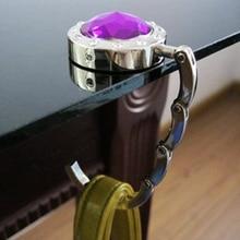 Для подвешивания волшебных крючков из сплава с кристаллами, складная сумка с крюком, держатель для сумки, портативный крючок, вешалка, круглый крючок для сумки, крючок для стола