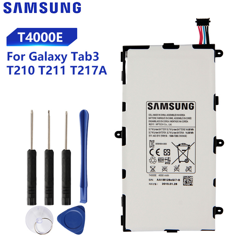Original Replacement Samsung Battery For Galaxy Tab3 7.0 T217a T210 T211 T2105 Genuine Tablet Battery <font><b>T4000E</b></font> T4000U/C 4000mAh image
