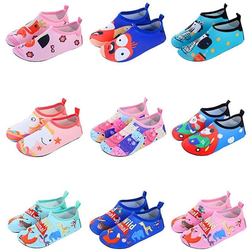 Children Water Shoes Swimming Socks Printing Color Summer Aqua Beach Sneakers Seaside Sneaker Socks Slippers For Boys Girls