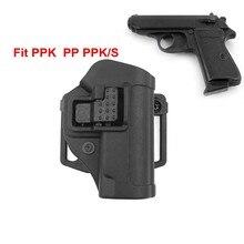 Cqc tático arma coldre walther pp/ppk/ppks caça ocultação rápida mão direita cinto loop pistola coldre caso bolsa