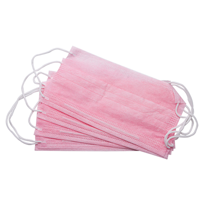100Pcs/Pack Anti-Dust Windproof Mask Disposable Mouth Nose Face Care Eyelash Extension Non-Woven Fabric Masks Pink