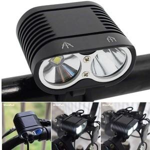 Супер яркий 5000лм велосипедный фонарь 2 * XM-L2 велосипедный передний фонарь MTB фара + перезаряжаемый аккумулятор 8800 мАч 18650