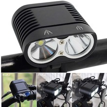 Super Bright 5000LM Bike Light 2* XM-L2 Bicycle Fro