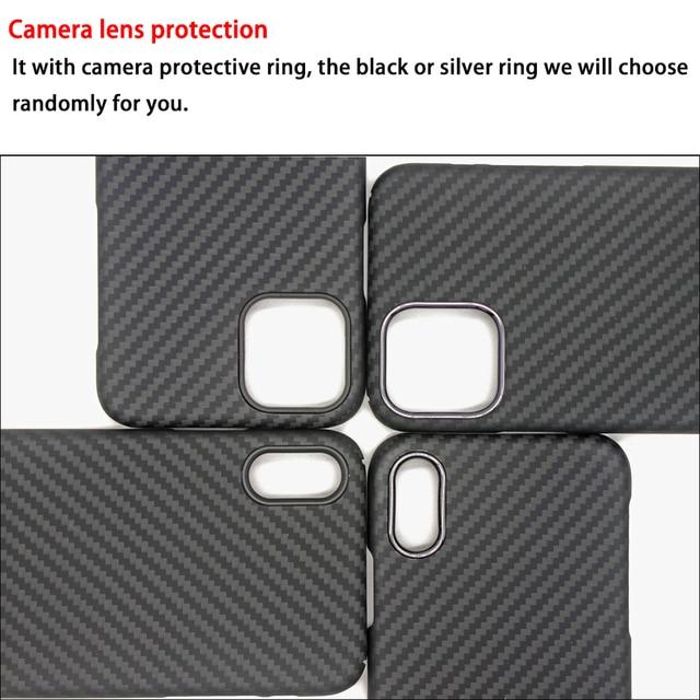 Carbon Fiber Case for iPhone X XS Max XR 7 11 12 Mini Cases Aramid Fiber Ultra Thin Phone Cover for iPhone 12 11 Pro Max SE Case 5