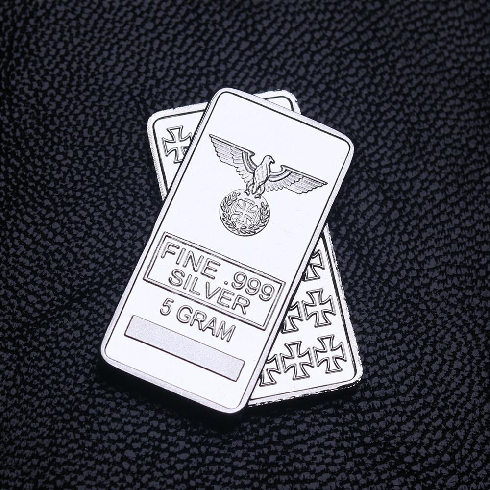 5 gramas multa alemão prata ferro cruz