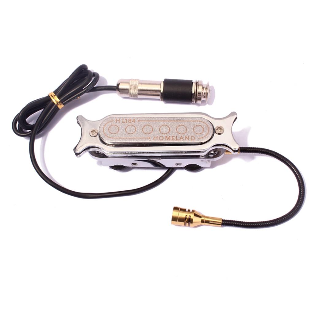 Micro-bobine électromagnétique avec Microphone pièce de guitare acoustique en métal