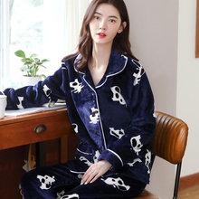 Женские бархатные пижамы комплект из двух предметов кардиган