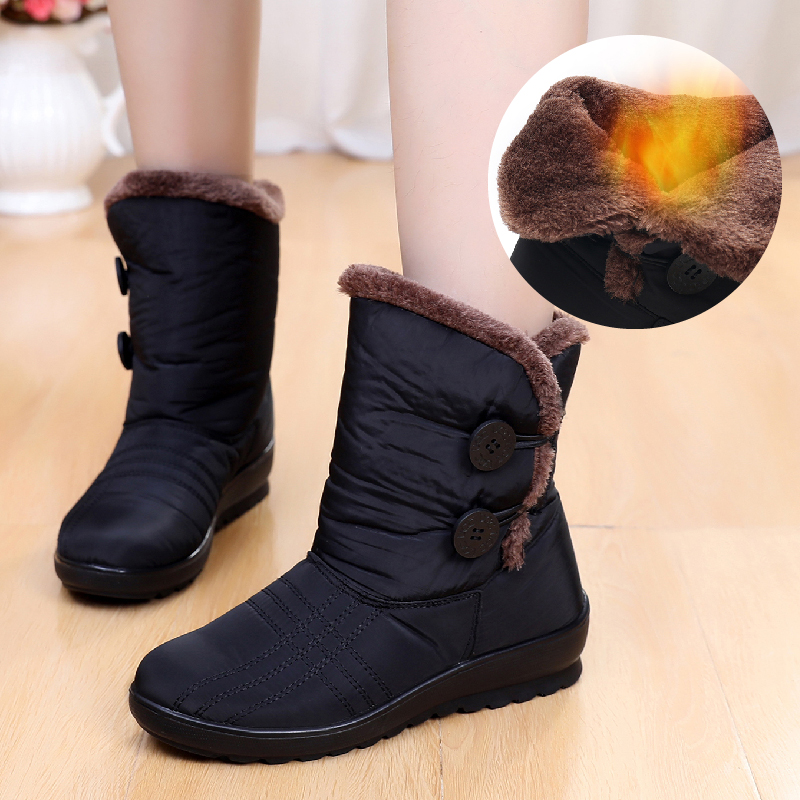 2020 Snow Boots for Women Fashion Waterproof Winter Ankle Boots Women New Plush Warm Female Shoes Walking Shoes Botas De Mujer