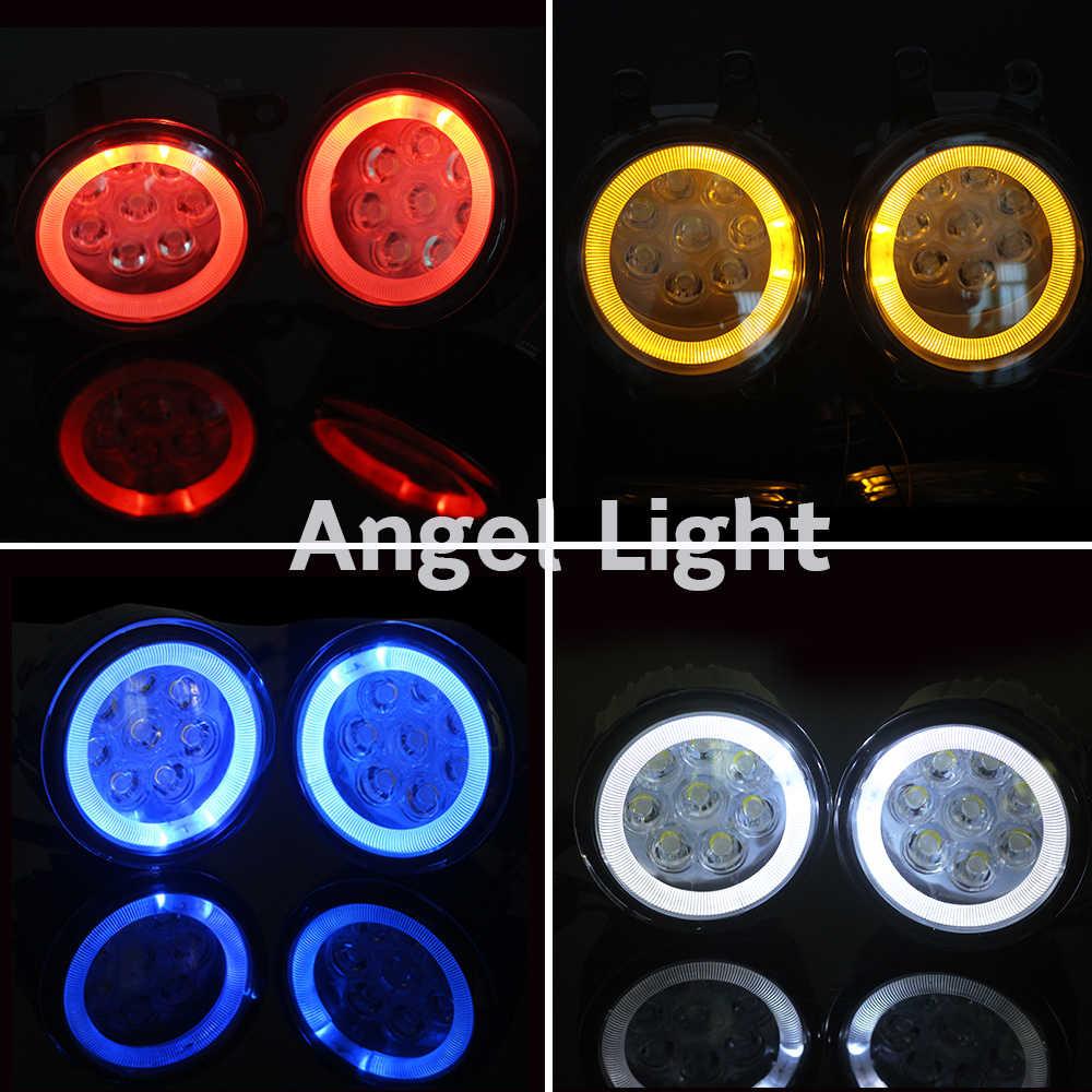 Cawanerl araba LED sis lambası ampul melek göz DRL gündüz çalışan far 12V aksesuarları Peugeot 607 (9D, 9U) saloon 2000-2006