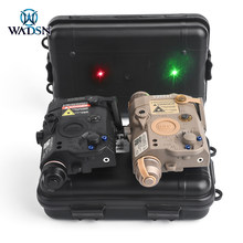 WADSN Airsoft PEQ 15 LA5C Red Green Dot Laser fucile da caccia UHP PEQ Laser Sight amer senza torcia IR Fit Picatinny Rail