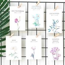 30 unids/set Mirabell postal de jardín flor hermosa tarjeta escritura mensaje regalo de felicitación carta pequeña papelería regalo
